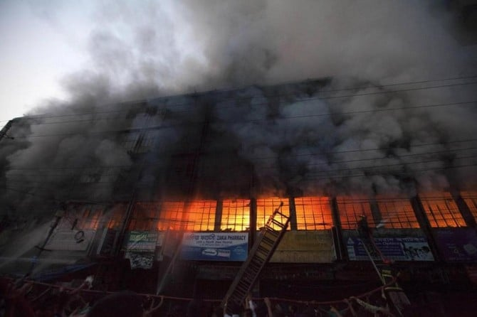 Fire outbreak in garment factory in Bangladesh