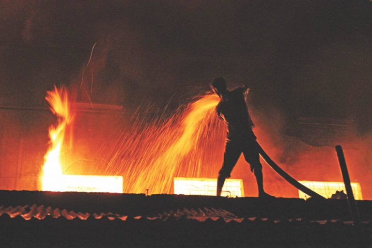 Fire in a garment factory